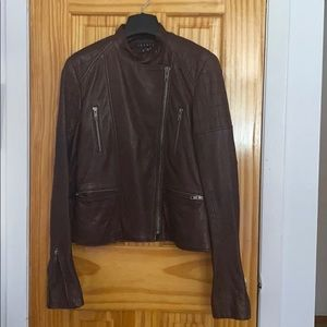 Theory soft leather jacket
